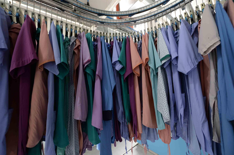 linen hanging